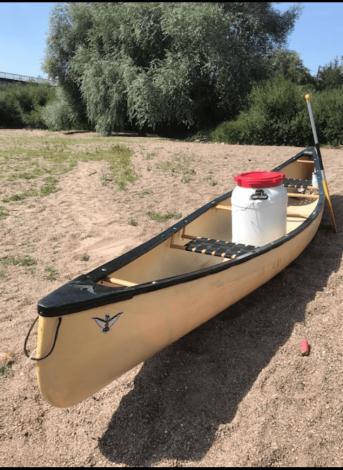 Kayak awaiting the green light
